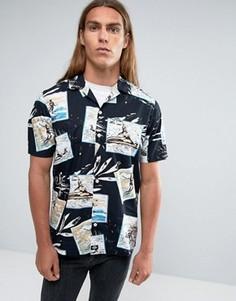 Рубашка классического кроя с принтом Dickies - Черный