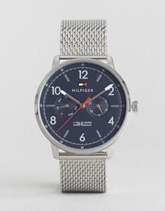 Часы с серебристым сетчатым ремешком Tommy Hilfiger 1791354 - Серебряный