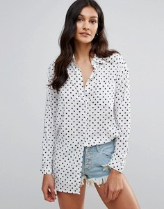 Рубашка с принтом звезд Daisy Street - Белый