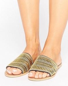 Кожаные сандалии Park Lane - Золотой
