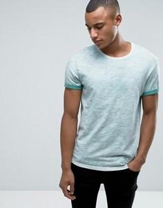 Меланжевая футболка с круглым вырезом Esprit - Зеленый