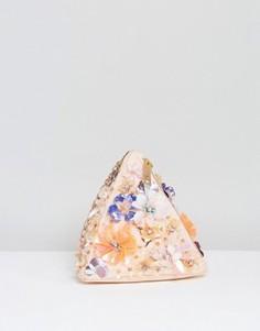 Клатч треугольной формы с отделкой ASOS Summer - Мульти