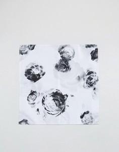 Черно-белый платок для нагрудного кармана ASOS - Черный