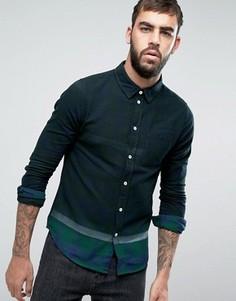 Клетчатая рубашка с эффектом деграде Another Influence - Черный
