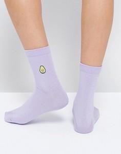 Носки с отделкой в виде авокадо и яйца ASOS - Фиолетовый