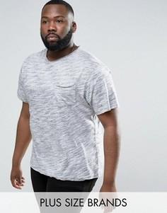 Полихроматическая футболка с необработанным краем Another Influence PLUS - Серый