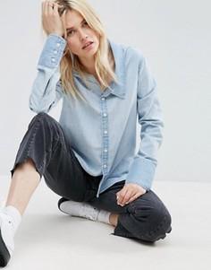 Джинсовая рубашка ASOS - Синий