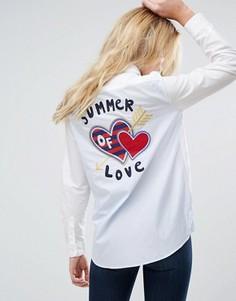 Рубашка с нашивкой-сердечком Tommy Hilfiger - Белый