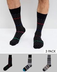3 пары носков в горошек и полоску Paul Smith - Мульти