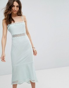 Кружевное платье миди Vero Moda - Синий