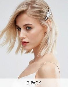 Заколки для волос с камнями New Look - Белый
