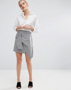 Асимметричная мини‑юбка ZACRO - Серый