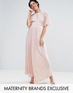 Кружевное платье макси Queen Bee - Розовый