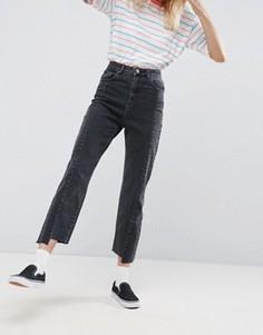 Выбеленные черные джинсы прямого кроя ASOS - Черный