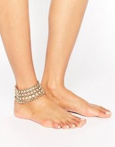 Браслет на ногу с монетками ALDO - Золотой