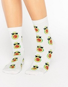 Носки с авокадо ASOS - Белый