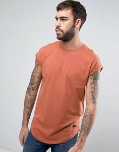 Длинная футболка с короткими рукавами Only & Sons - Медный