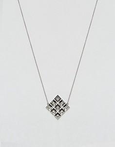Ожерелье с геометрической подвеской House Of Harlow - Серебряный