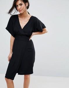Платье с запахом Closet London - Черный