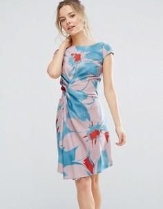 Цельнокройное платье с ярким цветочным принтом Closet London - Мульти