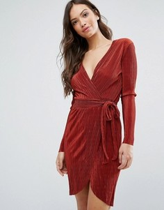 Платье с запахом спереди Wal G - Красный