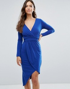 Асимметричное платье Wal G - Синий