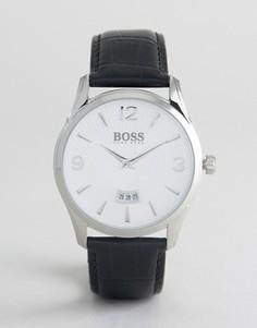 Часы с черным кожаным ремешком BOSS By Hugo Boss 1513449 Commander - Черный
