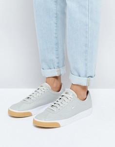 Серые кожаные кроссовки Nike Match Classic Premium - Серый