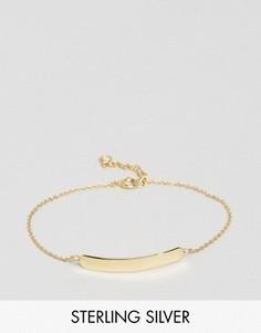 Серебряный браслет с позолотой ASOS - Золотой