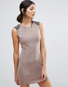 Облегающее платье с открытой спиной Pussycat London - Коричневый