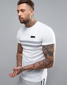Компрессионная футболка со светоотражающей вставкой Ellesse Sport - Белый