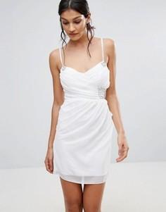 Платье для выпускного с отделкой Pussycat London - Белый