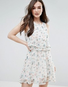 Платье с принтом Pussycat London - Кремовый