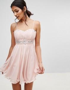 Платье для выпускного с отделкой Pussycat London - Розовый