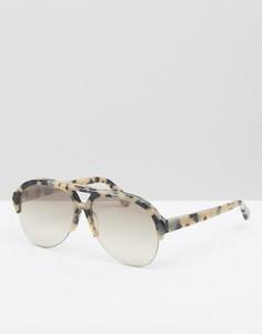 Солнцезащитные очки-авиаторы в черепаховой оправе Stella McCartney - Коричневый