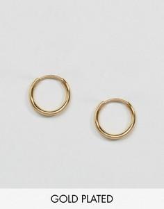 Миниатюрные позолоченные серьги-кольца Pilgrim - Золотой