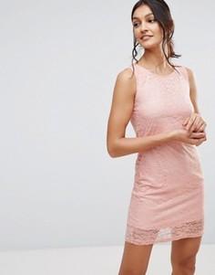 Кружевное платье Pussycat London - Розовый