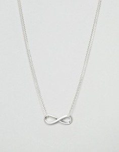 Посеребренное ожерелье с подвеской в виде знака бесконечности Pilgrim - Серебряный