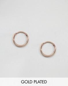 Серьги-кольца с покрытием из розового золота Pilgrim - Золотой