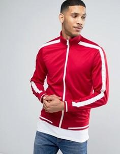 Куртка на молнии в стиле ретро Threadbare - Красный