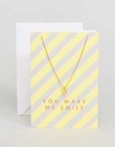 Ожерелье Orelia You Make Me Smile - Золотой