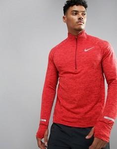 Красный свитшот с короткой молнией Nike Running 683906-674 - Красный