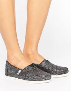 Черные слипоны цвета металлик Toms - Черный