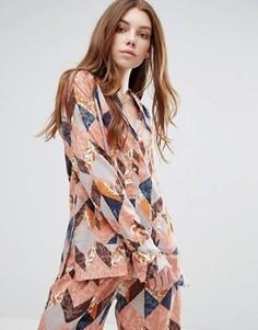 Пижамная рубашка Neon Rose Maja - Мульти