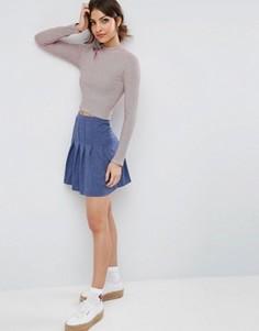 Теннисная юбка мини ASOS - Синий