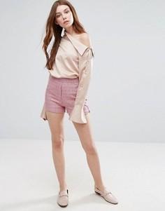 Фактурные шорты Neon Rose - Розовый