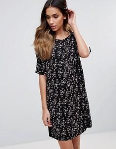Свободное платье-футболка Pieces Irina - Фиолетовый
