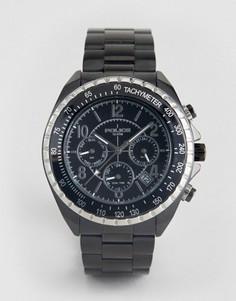 Черные часы-браслет с дополнительными циферблатами Police Navy - Черный