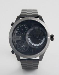 Часы с черным многофункциональным циферблатом Police - Черный