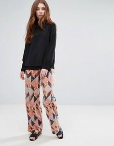 Пижамные брюки Neon Rose Maja - Мульти